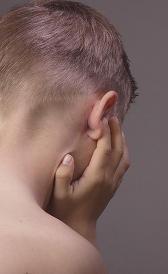 Imagen da infecção de ouvido